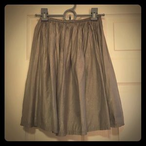 Grey & Silver A-Line Skirt XS Charlotte Russe